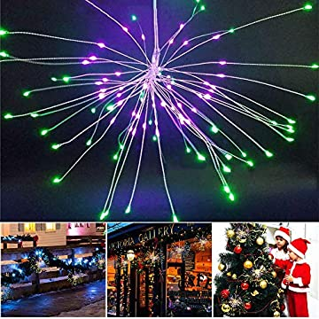 LED-Fairy-String-Lights,-320-LEDs-8-Modes-Dimmable-Battery-Operated-Hanging-Starburst-String-Lights,-Remote-Control-Copper-Starry-Lights-for-Christmas,-Patio,-Indoor-Outdoor-DIY-Decoration-(Multi-Colo