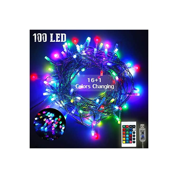 16-Color-Changing-Indoor-String-Lights,-Colorful-USB-Fairy-Lights-Starry-Lights-Remote-Control-Lamp-for-Birthday-Party,-Home,-Christmas-Wedding-Decor-19ft(Multiple)