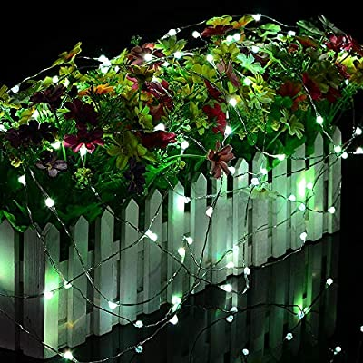 2-Pack-Fairy-String-Lights,-50-LED-Fairy-Lights-Battery-Operated-Multicolor-Changing-Twinkle-Lights-with-Remote,-16.4Ft-Silvery-Copper-Wire-Firefly-Lights-for-Party-Wedding-Christmas-Decor