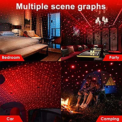 Star-Projector-Night-Light,-Portable-Adjustable-USB-Interior-Car-Roof-Star-Light-with-Romantic-Atmosphere-for-Ceiling,-Bedroom,-Car