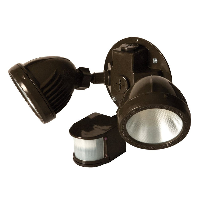 Weatherproof-LED-Flood-Light-Kit-with-Motion-Sensor,-Bronze