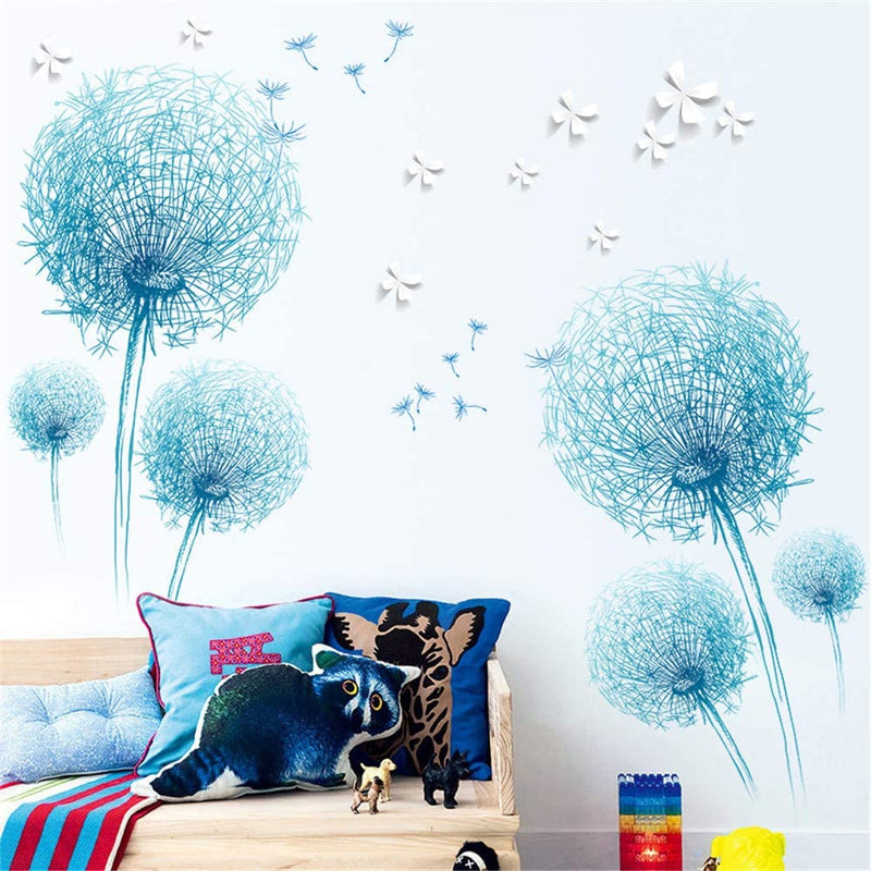 DERUN-TRADING-Flowers-Balls-Floral-Peel-and-Stick-Wall-Stickers-Decals