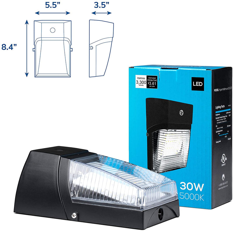 LED-Wall-Pack-Outdoor-Light,-30W,-Security-Wall-Sconce-Fixture,-5000K,