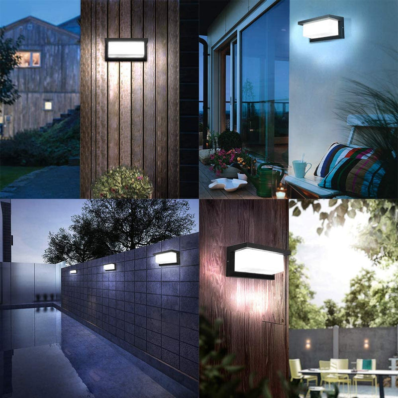 Exterior-Wall-Lights-Black,-Outdoor-Wall-Sconces-10W-Waterproof-LED-Li