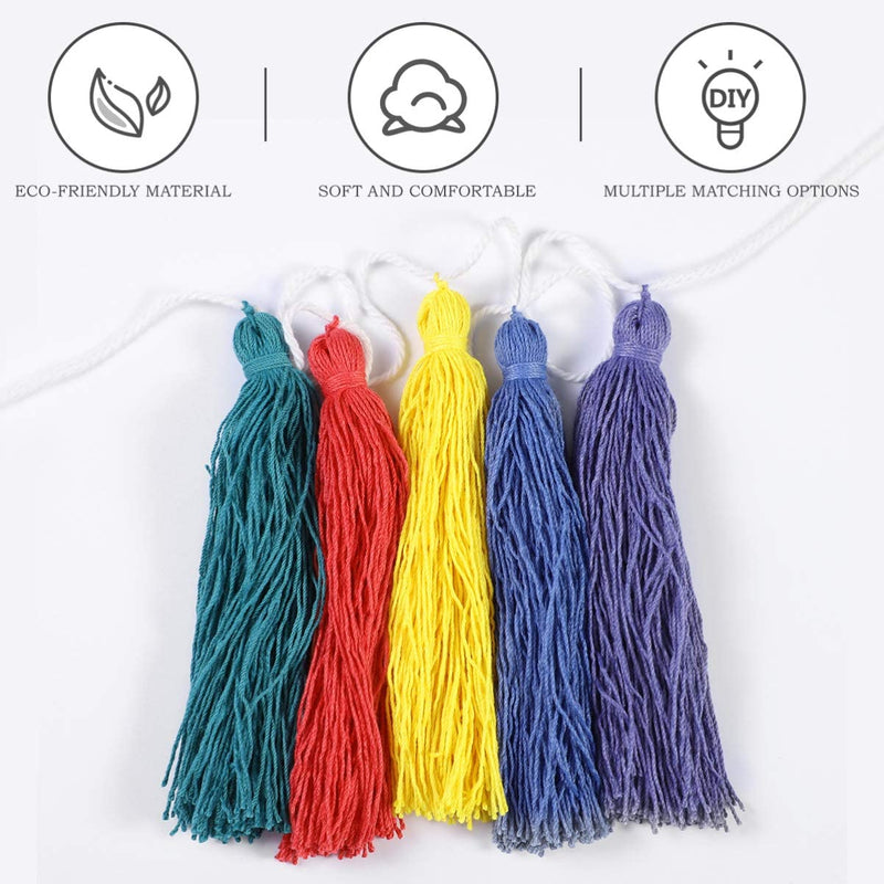 2pcs-Cotton-Tassel-Garland-Colorful-Tassel-and-Pompom-Ball-Garland-Ban