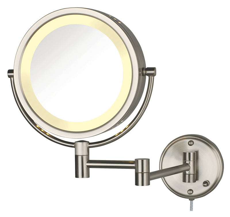 HL75N-8.5-Inch-Lighted-Wall-Mount-Makeup-Mirror-with-8x-Magnification,