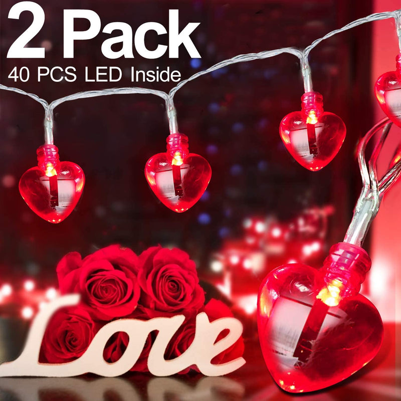 16.4FT-40LED-Valentines-Day-Decor-for-Home-Outdoor-Valentines-Lights-Decoration,-2-Pack-8-Mode-Heart-Lights-Valentines-Day-Decorations-String-Lights-Battery-Operated-for-Home