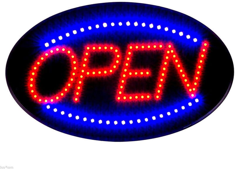 Jumbo-24'-x-13'-LED-Neon-Sign-with-Motion--'OPEN'-(Red/Blue)-B30
