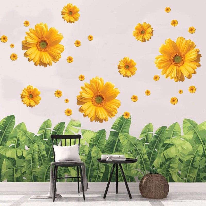 3Sets-3D-Daisy-Flowers-Wall-Stickers-Sunflower-Wall-Decals-Yellow-Red-