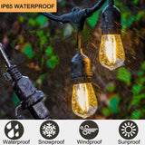 Commercial-Grade-Outdoor-Weatherproof-S14-LED-String-Lights-48Ft-with-15-Dropped-Sockets-2W-15Pcs-S14-LED-Edison-Filament-Bulb-Included-for-Patio-Courtyard-Porch-Wedding