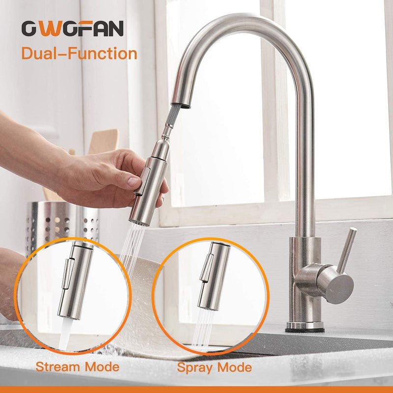 Touch-On-Kitchen-Faucets-with-Pull-Down-Sprayer,-Single-Handle-Kitchen