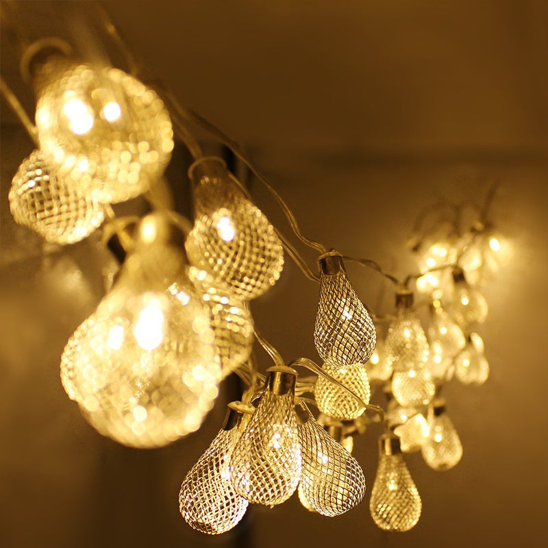 Mesh-Lantern-Ball-LED-Christmas-String-Lights-w/Power-Adapter---Warm-White,-29ft-Length,-40pcs-Balls-for-Christmas,-Holiday,-Party,-Event-Decorative-Lighting-(Mesh-Lantern-Ball-W/Power-Adapter)