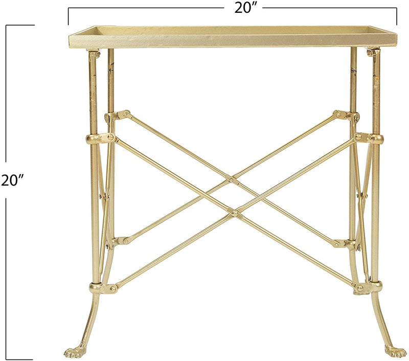 Creative-Co-op-20'-Metal-Rectangle-Table-Occassional-Furniture,-Gold