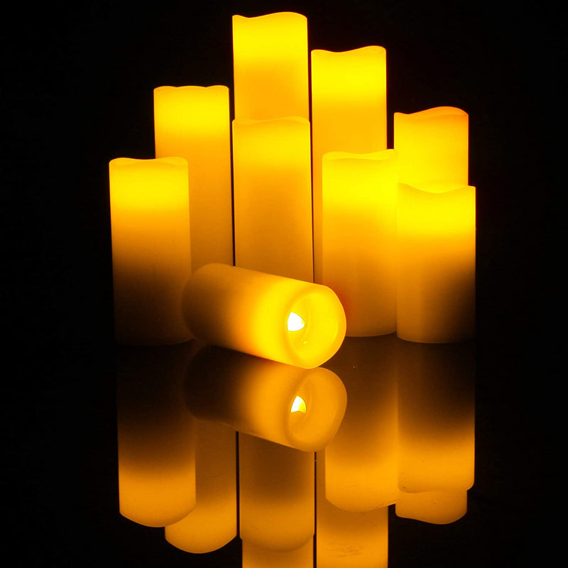 Battery-Operated-Flameless-LED-Pillar-Candles-with-Remote-Timer-Flicke
