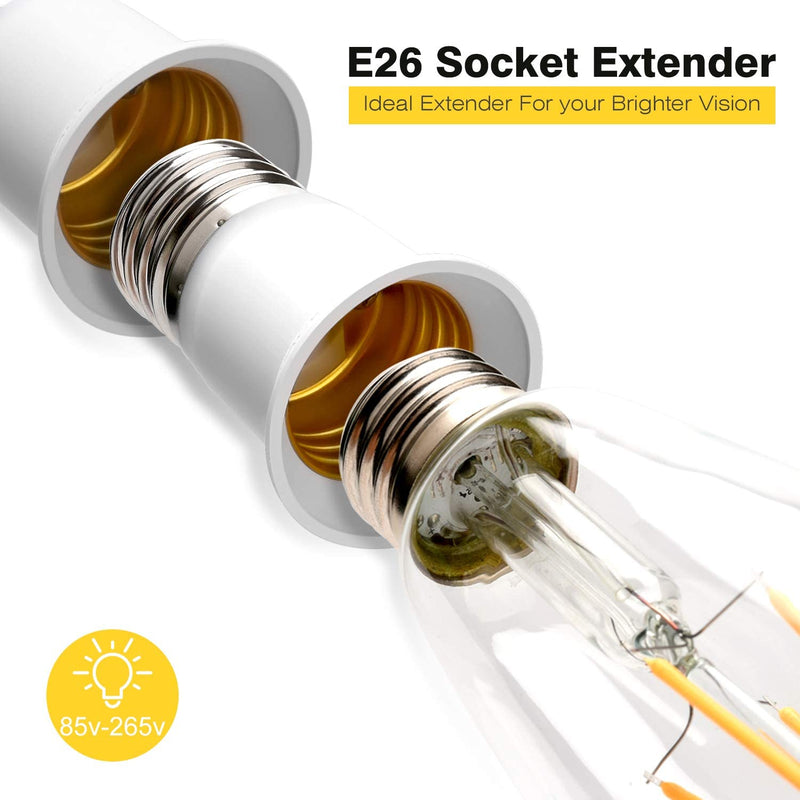 E26-to-E26/E27-Light-Bulb-Socket-Extender-Light-Adapter-4cm-Extension-