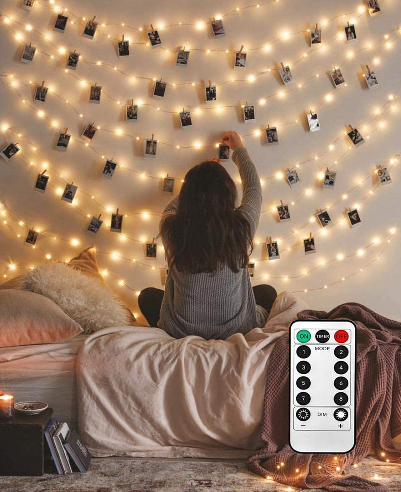 8-Modes-40-LED-Photo-Clip-String-Lights-with-Remote,-Indoor-Fairy-String-Lights-for-Hanging-Photos-Pictures-Cards,-Ideal-Gift-for-Bedroom-Decoration-(Battery-Operated-40-LED)