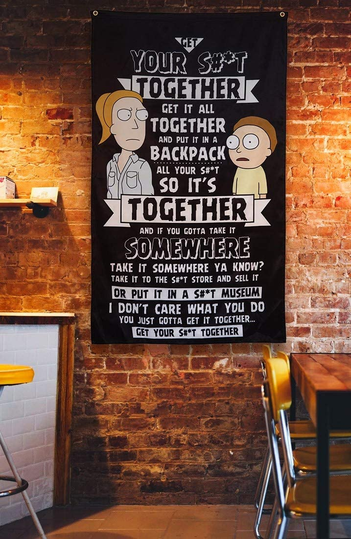 Calhoun-Rick-and-Morty-Indoor-Wall-Banner-(30'-by-50')-(Morty-Rant)