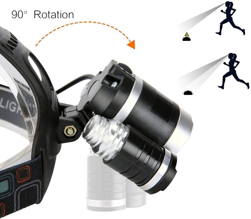 Led-Headlamp,-Brightest-8000-Lumen-Flashlight,Rechargeable-18650-Headl