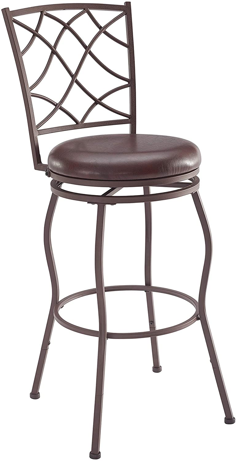 Linon-Home-DŽcor-Casey-Set-of-Three-Adjustable-Stool,-Brown