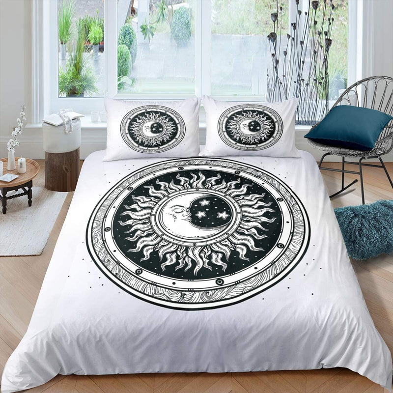 Sun-and-Moon-Duvet-Cover-Boho-Exotic-Style-Bedding-Set-Queen-Galaxy-Pa