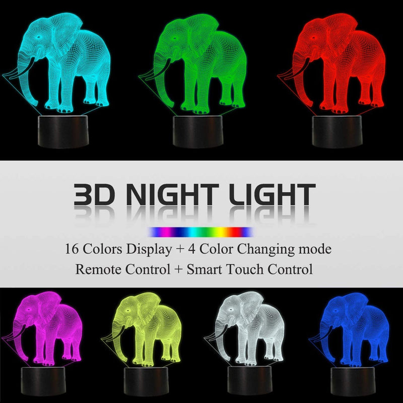 Elephant-Gifts,-3D-Night-Light-for-Kids-16-Colors-Changing-3D-Illusion