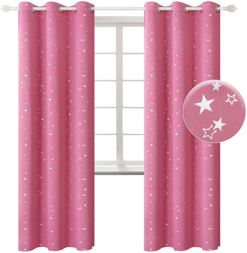 BGment-Kids-Blackout-Curtains-for-Living-Room---Silver-Star-Printed-Th