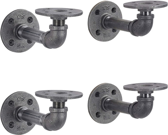 Industrial-Pipe-Shelf-Brackets-4-Pack,-Authentic-Pipe-Plumbing-Fitting