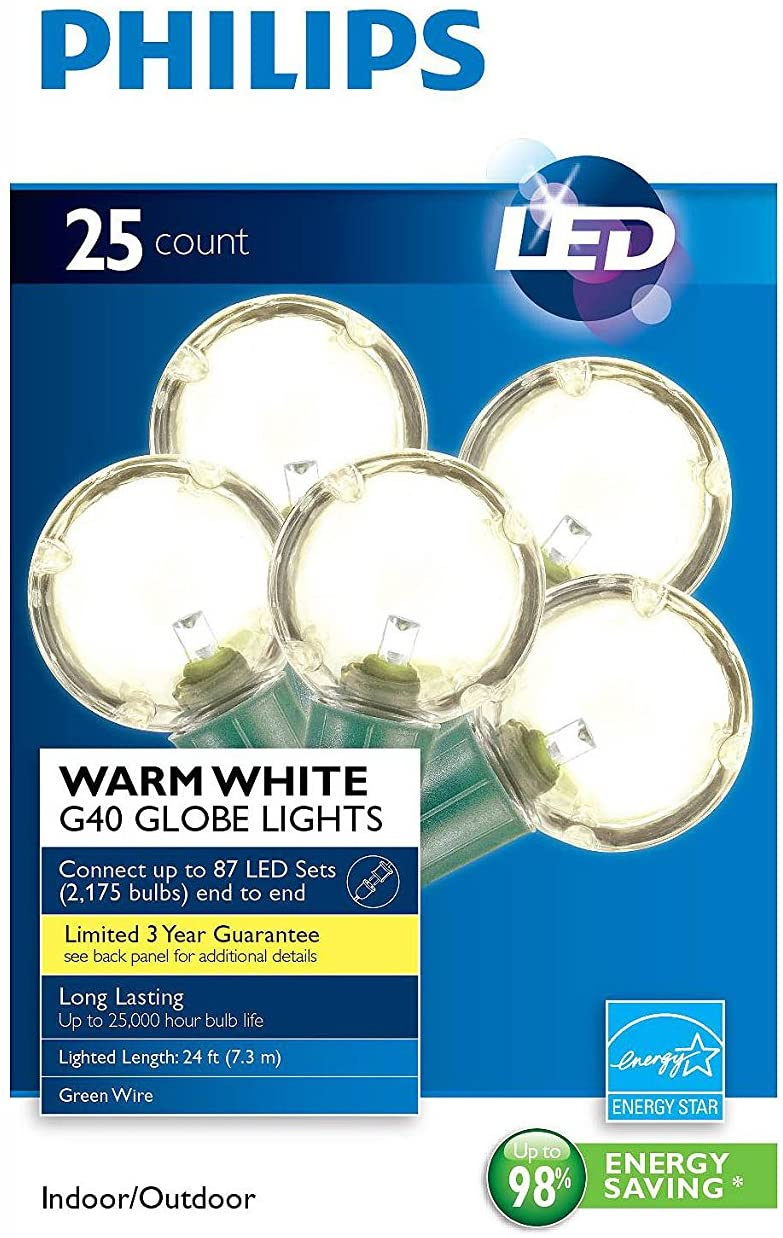 Philips-Clear-Globe-LED-String-Lights-Set-of-25-G40-Bulbs-Indoor-/-Outdoor