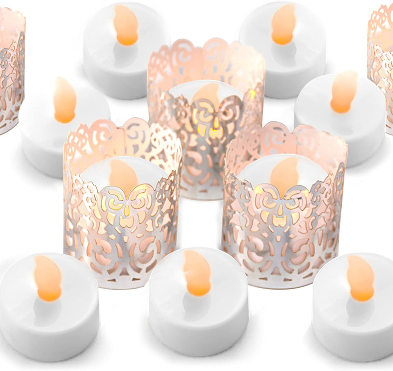 24-Flameless-Flickering-LED-Tea-Light-by---Battery-Operated-Candles,-H