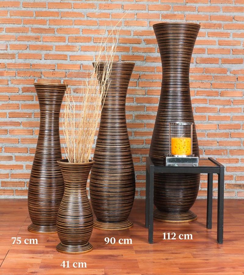 Tall-Big-Floor-Standing-Vase-for-Home-Decor-36-inches,-Mango-Wood,-Bro