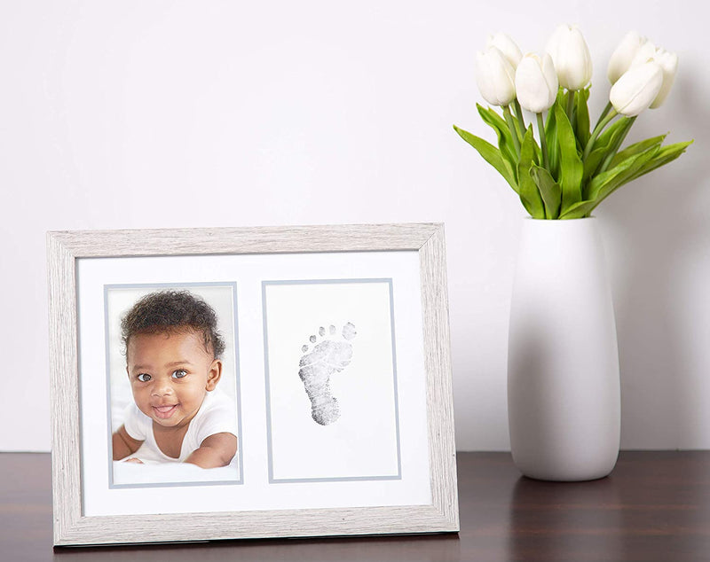 Kate-&-Milo-Rustic-Baby-Footprint-Photo-Frame-and-Ink-Kit,-Woodland-Nu