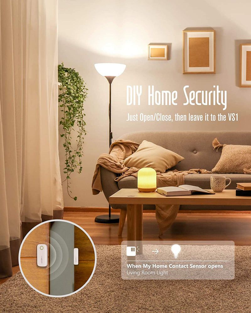 Door-Window-Alarm-Magnetic-Contact-Sensor-Wireless-Smart-ONLY-Works-wi
