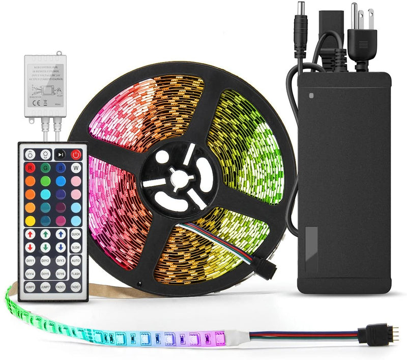 Flexible-LED-Strip-Light---32.8-Ft-5050-RGB-300LEDs-Non-waterproof-Col