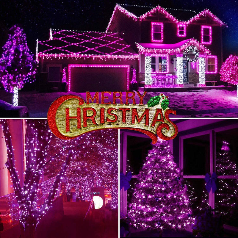 Purple-Christmas-Lights,-33ft-100-LED-String-Lights,-120V-UL-Certified-Xmas-Tree-Lights-for-Christmas,-Halloween,-Patio,-Holiday,-Party,-Home,-Indoor-and-Outdoor-Decoration
