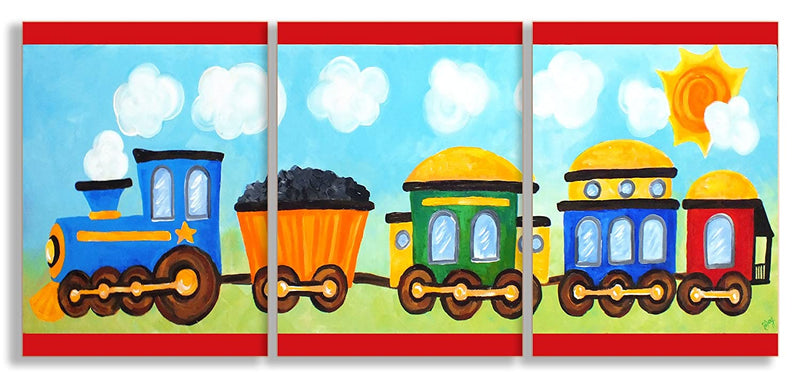 The-Kids-Room-by-Stupell-Choo-Choo-Train-in-The-Sun-3-Pc.-Rectangle-Wa