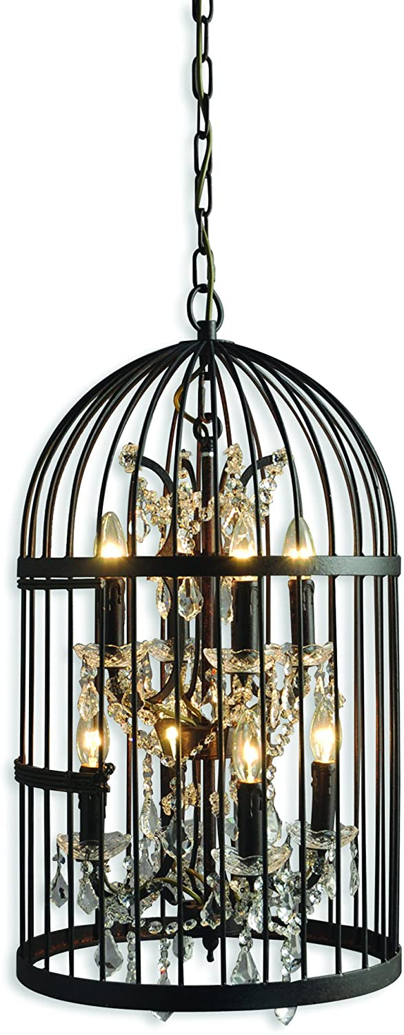 SCFP2079-4+4RR-8-Lights-Mini-Chandelier-Light,-Red-Rustic-Finish
