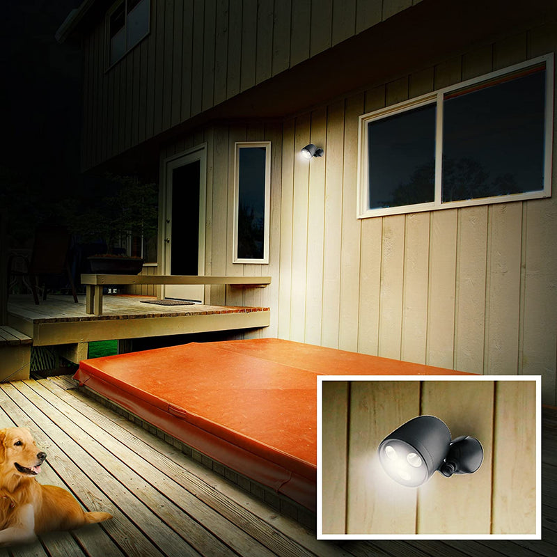 LED-Wireless-Motion-Sensor-Battery-Powered-Spotlight-with-450-Lumens,-