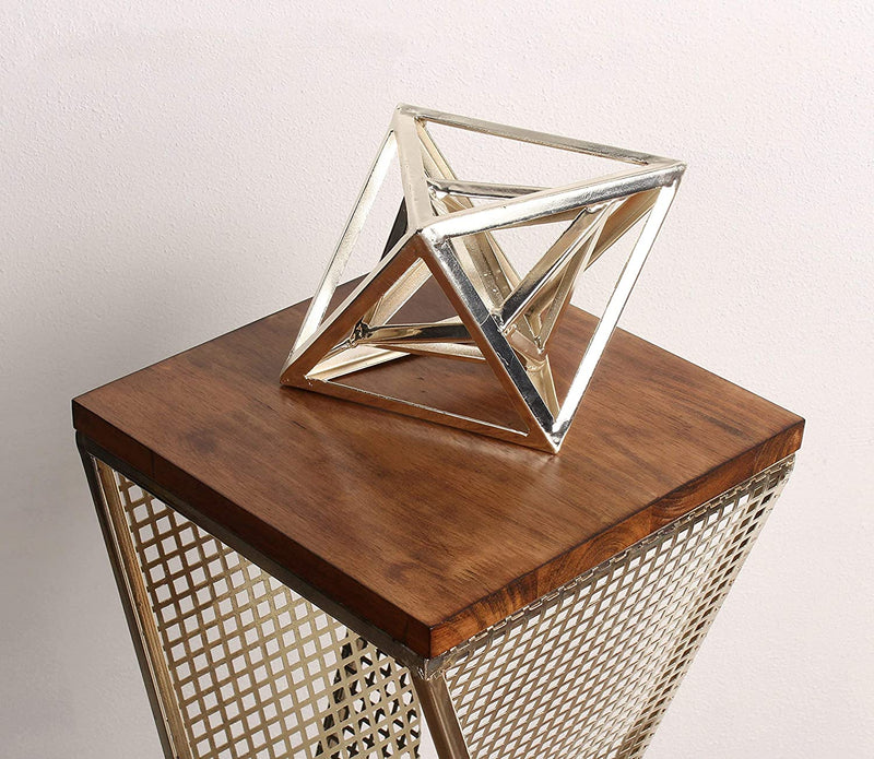 Elita-Walnut-Wood-and-Metal-Pedestal-End-Table