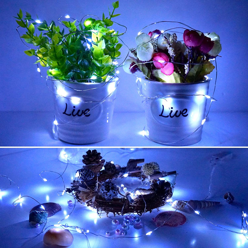 Starry-Fairy-String-Lights-LED-Firefly-Silver-Color-Wire-Lights-15-Pack-20-LED-7.2FT-Battery-Powered-Lights-for-DIY-Wedding-Party-Jar-Centerpiece-Christmas-Decorations-(Cool-White)