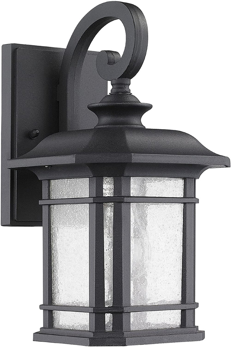 Chloe-Lighting-CH22021BK13-OD1-'Franklin'-Transitional-1-Light-Black-Outdoor-Wall-Sconce-12.75'-Height