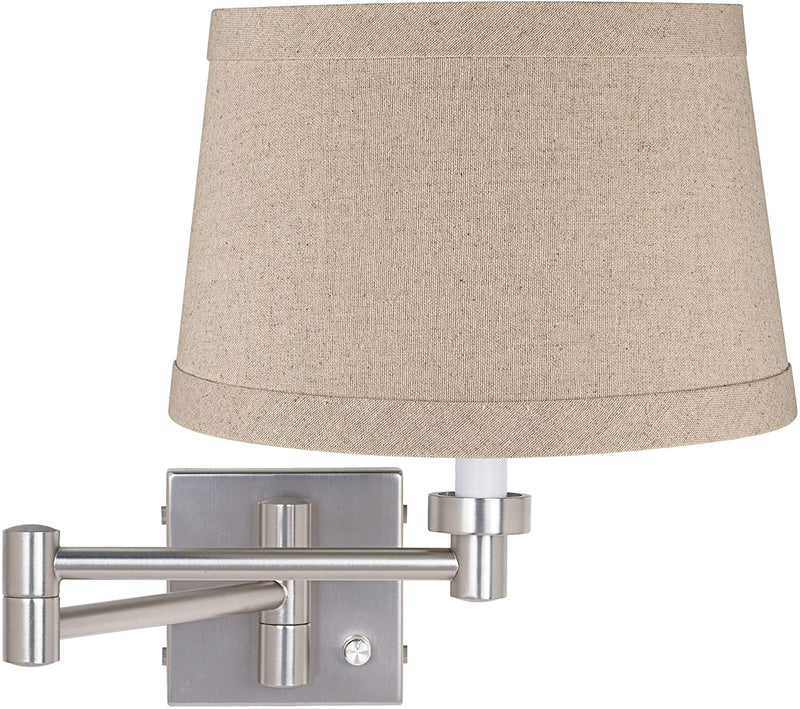 Modern-Swing-Arm-Wall-Lamp-Brushed-Nickel-Plug-in-Light-Fixture-Natura