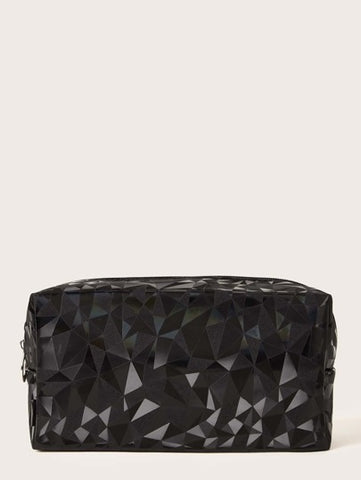 Beauty Case - Black Geometric Pattern