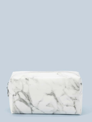 Beauty Case - White Marble Pattern