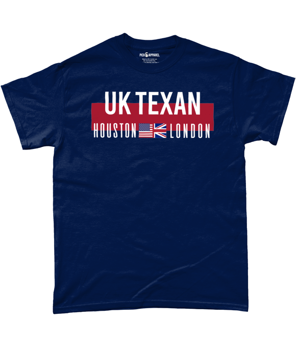 Houston UK London Fan Pick 6 Apparel T-Shirt - Pick 6 Apparel