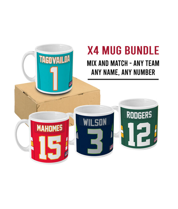 Custom Personalised Link Up Mug Bundle x4 Save Over 25% - Pick 6 Apparel