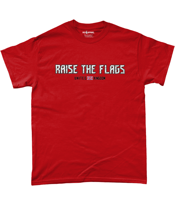 Tampa Bay Raise The Flags UK Pick 6 Apparel T-Shirt - 2 Colours - Pick 6 Apparel