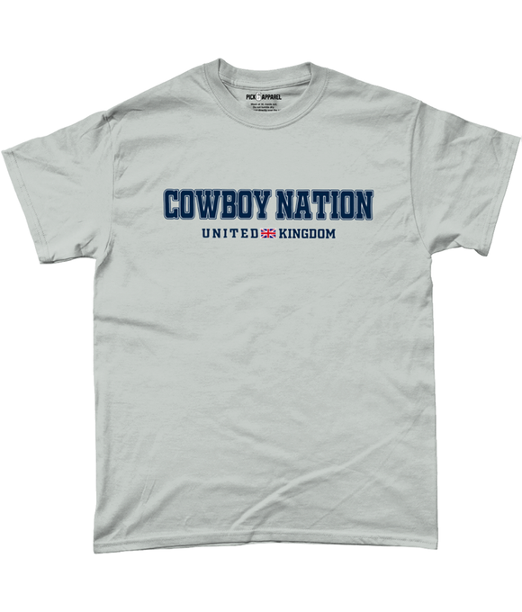 Dallas 'Cowboy Nation' UK Pick 6 Apparel T-Shirt - 2 Colours - Pick 6 Apparel