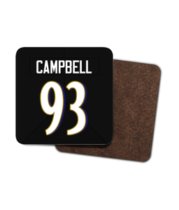 Baltimore Custom Road Jersey - Single Drinks Coaster - Pick 6 Apparel