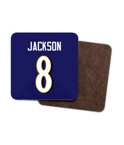 Baltimore Custom Home Jersey - Single Drinks Coaster - Pick 6 Apparel