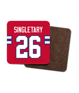 Buffalo Custom Road Jersey - Single Drinks Coaster - Pick 6 Apparel